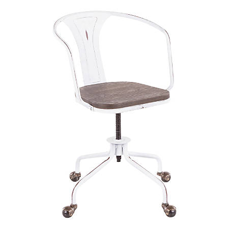 LumiSource Oregon Industrial Task Chair, Espresso/Vintage White