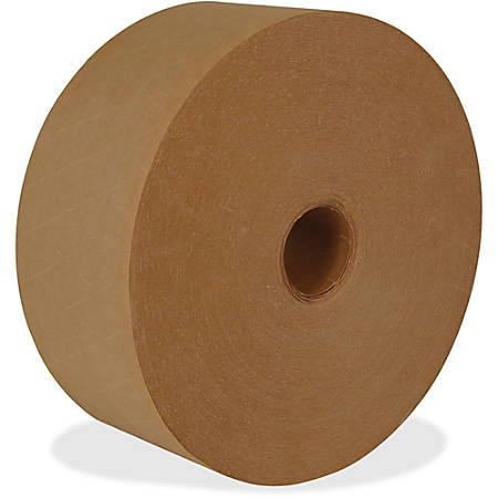 """ipg Medium Duty Water-activated Tape - 2.83"""" Width x 125 yd Length - Medium Duty, Tamper Evident, Durable - 8 / Carton - Natural"""