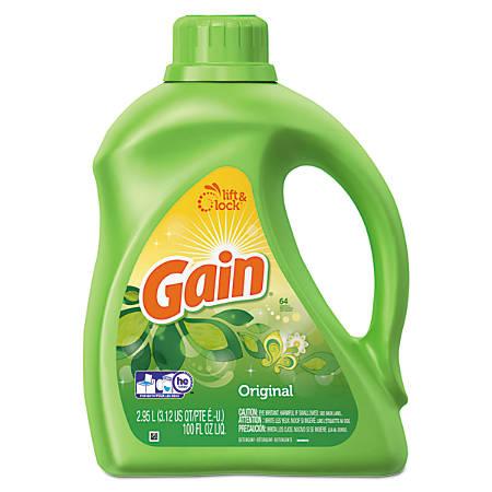 Gain® Liquid Laundry Detergent, Original Scent, 100 Oz, Pack Of 4