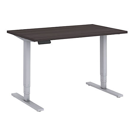 "Bush Business Furniture Move 80 Series 48""W x 30""D Height Adjustable Standing Desk, Storm Gray/Cool Gray Metallic, Premium Installation"