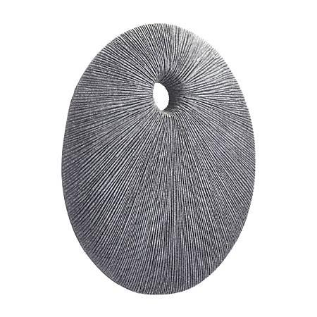 Zuo Modern Round Eye Plaque, Small, Dark Gray