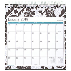 at a glance monthly easel calendar 6 38 x 6 116 madrid january to