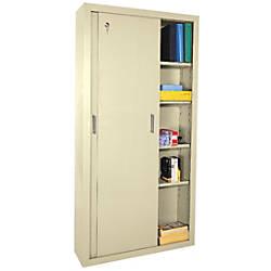 Sandusky Sliding Door Storage Cabinet Putty