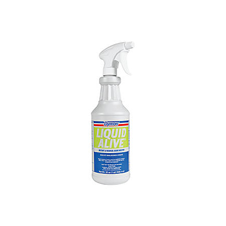 Dymon Liquid Alive Instant Odor Digester - Spray - 0.25 gal (32 fl oz) - Bottle - 12 / Carton