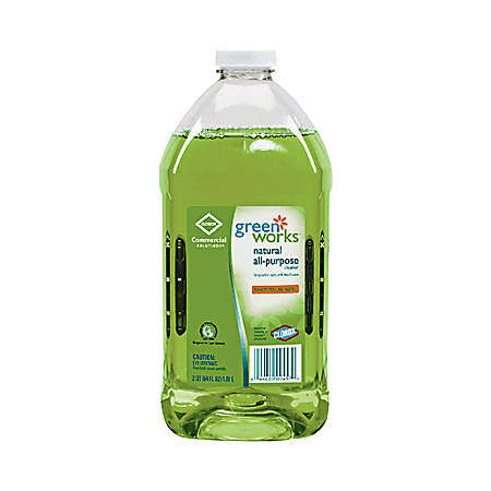 Clorox Green Works All-Purpose Cleaner, 64 oz. Refill Bottles, 6/Case