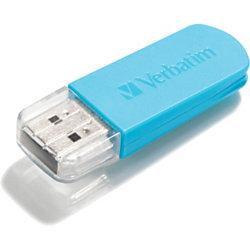 Verbatim 16GB Mini USB Flash Drive - Blue - 16 GB - Caribbean Blue - 1 Pack