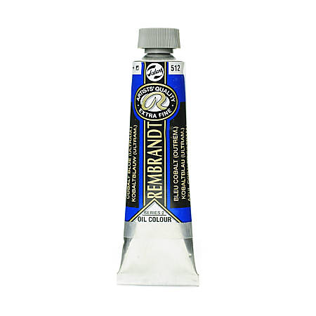 Rembrandt Artist's Oil Colors, 40 mL, Cobalt Blue Ultramarine, 512, Pack Of 2