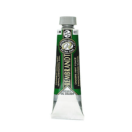 Rembrandt Artist's Oil Colors, 40 mL, Cinnabar Green Deep, 627, Pack Of 2