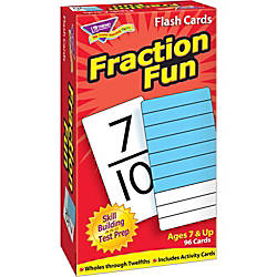 Trend Fraction Fun Flash Cards Educational