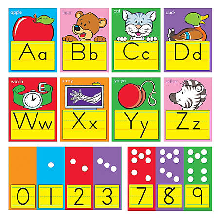 "TREND ABC Fun Alphabet Bulletin Board Set, 6 1/2"" x 8 1/2"", Zaner-Bloser Manuscript, Pre-K - Grade 3"