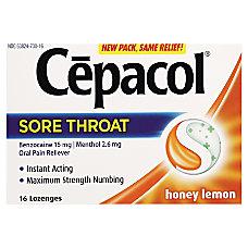 CEPACOL Lozenges Max Numbing Honey Lemon