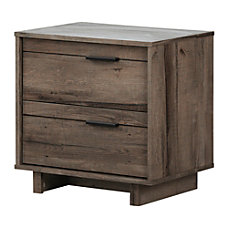South Shore Fynn 2 Drawer Nightstand