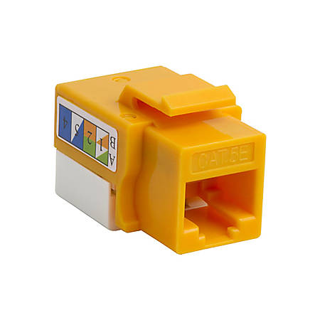 4XEM Cat5e RJ45 Keystone Jack UTP 110-Type (Yellow) - Yellow - 1 x RJ-45 Port(s)