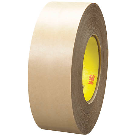 "3M™ 9485PC Adhesive Transfer Tape Hand Rolls, 3"" Core, 2"" x 60 Yd., Clear, Case Of 6"