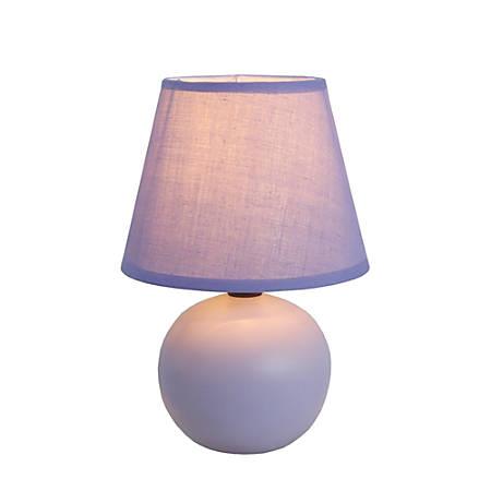 "Simple Designs Mini Globe Table Lamp, 8 7/8""H, Purple Shade/Purple Base"
