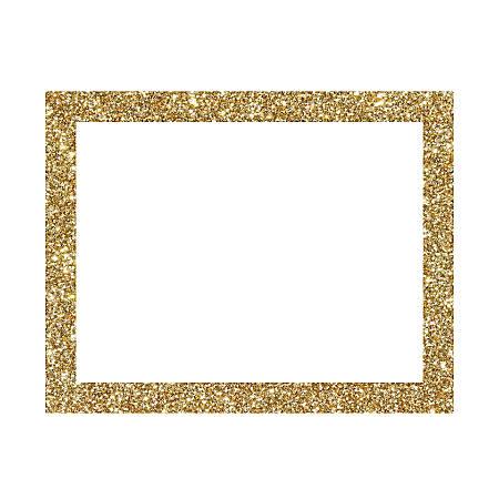 """Artskills® Glitter-Framed Poster Board, 22"""" x 28"""", White/Gold"""