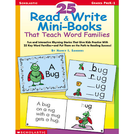 Scholastic 25 Read & Write Mini Books — Word Families