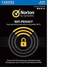 Norton WiFi Privacy VPN 5 Device