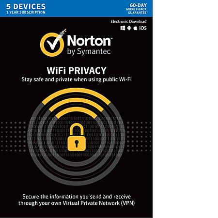 Norton WiFi Privacy VPN- 5 Device, Download Version