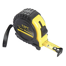 Global Hardlines Measuring Tape 12 BlackYellow