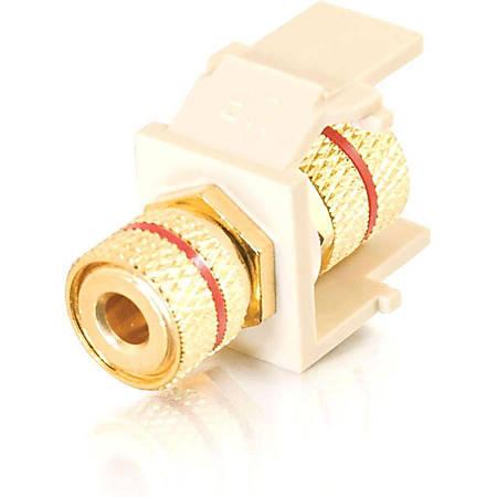 C2G Snap-In Red Banana Jack F/F Keystone Insert Module - Ivory