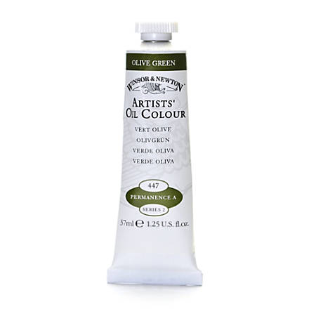 Winsor & Newton Artists' Oil Colors, 37 mL, Olive Green, 447