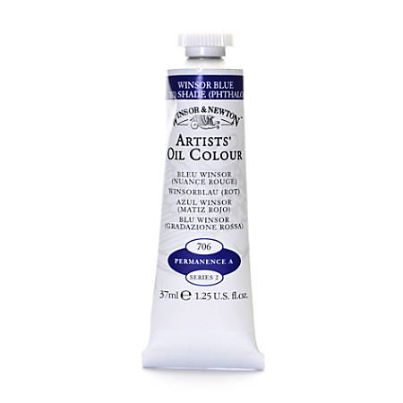 Winsor & Newton Artists' Oil Colors, 37 mL, Winsor Blue (Red Shade), 706