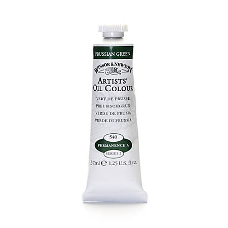 Winsor & Newton Artists' Oil Colors, 37 mL, Prussian Green, 540