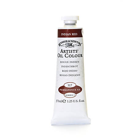 Winsor & Newton Artists' Oil Colors, 37 mL, Indian Red, 317