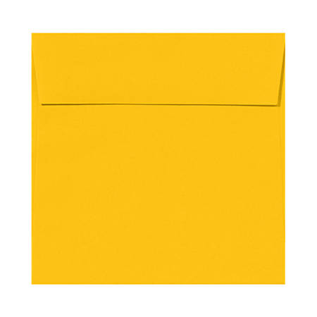 """LUX Square Envelopes With Peel & Press Closure, 6 1/2"""" x 6 1/2"""", Sunflower Yellow, Pack Of 50"""