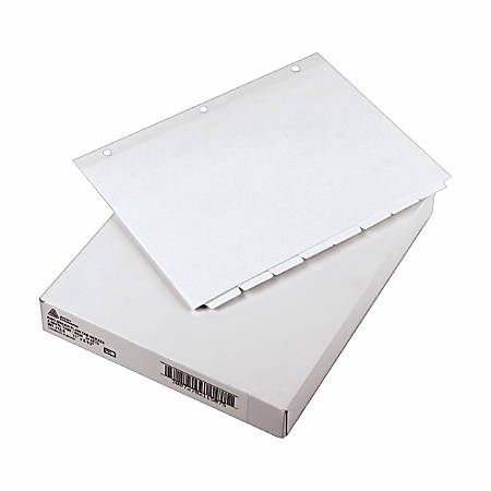 """Avery® Plain Tab Write-On Dividers, 8 1/2"""" x 11"""", 20% Recycled, White, 8-Tab, Case Of 24"""