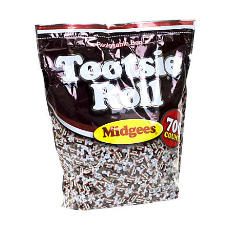 Tootsie Roll Midgees, 5-Lb Pouch, Pack Of 700 Pieces