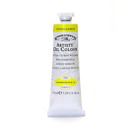 Winsor & Newton Artists' Oil Colors, 37 mL, Winsor Lemon, 722