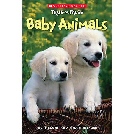 Scholastic Reader, True Or False #1: Baby Animals, 2nd Grade