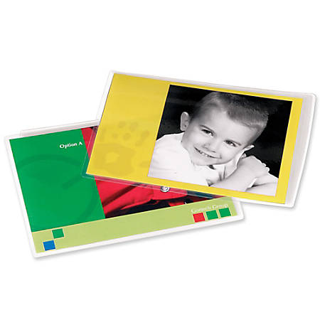 "Fellowes® Laminator Photo Pouches, 4 1/2"" x 6 1/4"", 3 Mil Thickness, Pack Of 25"