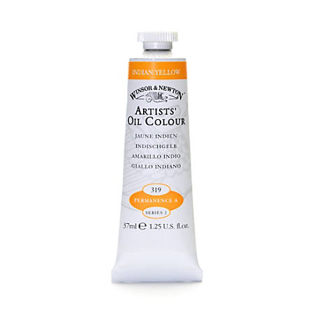 Winsor & Newton Artists' Oil Colors, 37 mL, Indian Yellow, 319