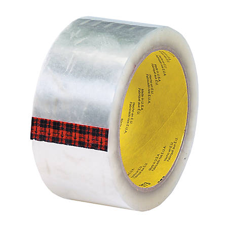 """3M® 373 Carton Sealing Tape, 2"""" x 55 Yd., Clear, Case Of 36"""
