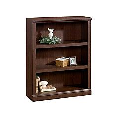 Realspace Premium Bookcase 3 Shelf Mocha