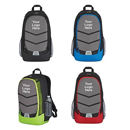 "Diamond Lattice Accent Backpack, 19""H x 10 3/4""W x 7 1/2""D, Multicolor"