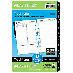Day Timer Reference DailyMonthly Planner Refill