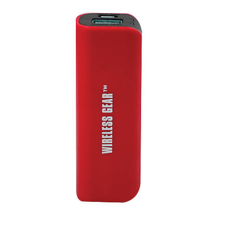 Wireless Gear™ 1,800 mAh Portable Power Bank For Smartphones, Red, G0368