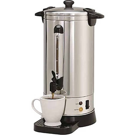 Nesco CU-50 Urn - 950 W - 50 Cup(s) - Multi-serve - Stainless Steel - Stainless Steel