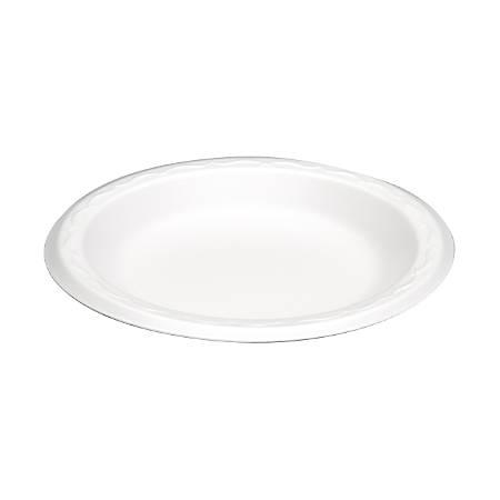 "Genpak Round Foam Snack Plates, 6"", White, Pack Of 1,000"