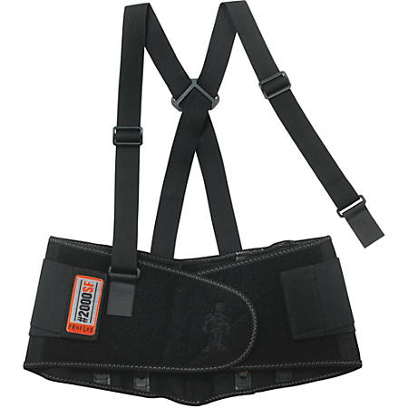 ProFlex 2000SF High-performance Back Support - Adjustable, Strechable, Comfortable - Strap Mount - Black