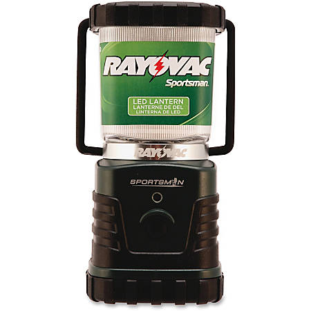 Rayovac Sportsman LED 4W Lantern - 4 W - D - Rubber, Acrylonitrile Butadiene Styrene (ABS) - Black, Green