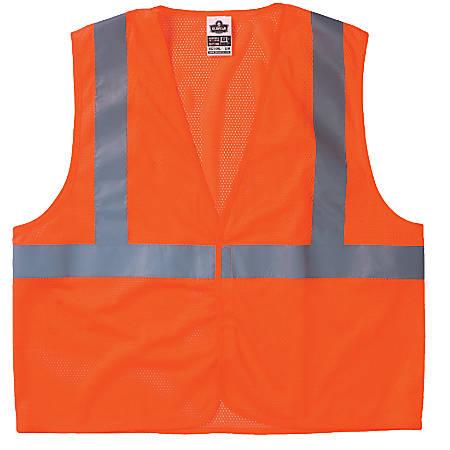 GloWear 8210HL Class 2 Economy Vests w/Pocket, Hook/Loop Closure, S/M, Orange