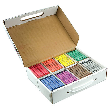 Prang® Large-Size Crayons, Assorted Colors, Box Of 200 Crayons