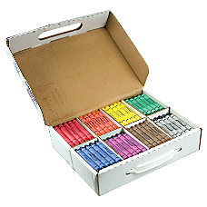 Prang Large Size Crayons Assorted Colors