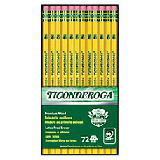Ticonderoga 2 Pencils 72 ct