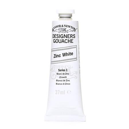 Winsor & Newton Designers' Gouache, 14 mL, Zinc White, 748